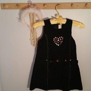 Other - Size 5 Blue Heart Corduroy Fabric Jumper Dress